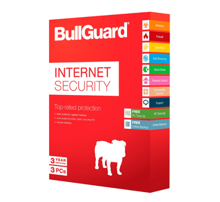 BullGuard Internet Security 2019 - 3 PC / 3 år