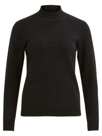 VILA Knitted Pullover Women Black