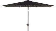 Alu parasol med tilt - Ø 3 meter - Sort