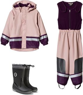 DidriksonsPakke: Didriksons Boardman Dusty Pink + Reima Twinkle Svart