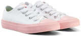 Converse White Chuck II All Star Sneaker with Pink