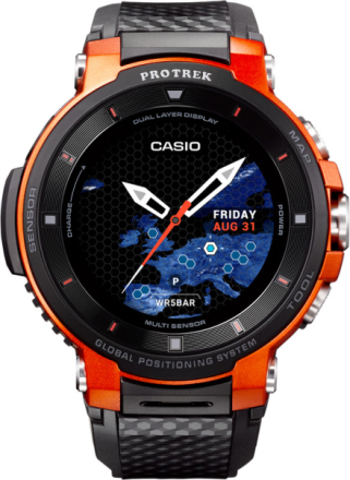 CASIO PRO TREK SMART WSD-F30-RGBAE , oranssi/musta 2019 Aktiivisuusrannekkeet
