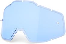 100% Anti-Fog F. Injected Lenses Racecraft/Accuri/Strata, blue 2020 Ajolasitarvikkeet