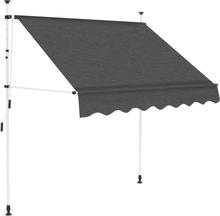 vidaXL foldemarkise manuel betjening 200 cm antracitgrå