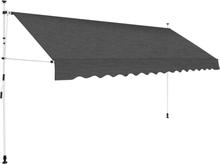 vidaXL foldemarkise manuel betjening 350 cm antracitgrå