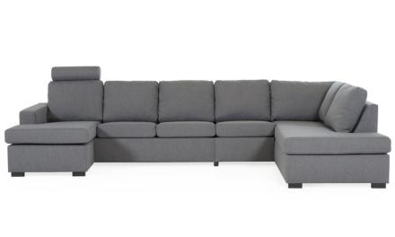KLIPPAN U-soffa XL Höger Tove Mörkgrå