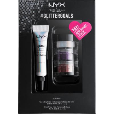 NYX #Glittergoals Glitter Kit 3 5 ml + 3 x 1,5 g