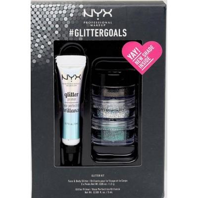 NYX #Glittergoals Glitter Kit 1 5 ml + 3 x 1,5 g