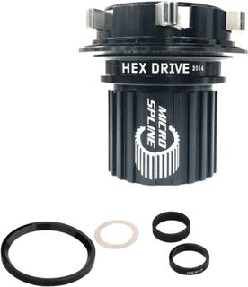 Spank Hex Drive Micro Spline Boss Alloy, Shimano 12-delt Micro Spline