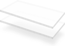 vidaXL Plexiglasskivor 2 st 60x120 cm 15 mm