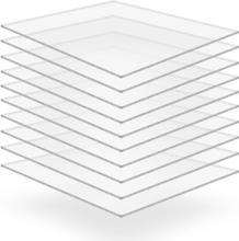 vidaXL Plexiglasskivor 10 st 40x60 cm 2 mm