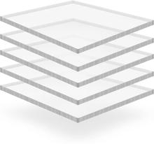 vidaXL Plexiglasskivor 5 st 40x60 cm 15 mm