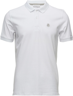 Shdaro Ss Embroidery Polo Noos Polos Short-sleeved Hvit Selected Homme