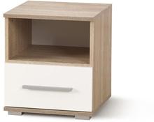 Sängbord Abdel - Vit/ek
