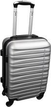 Kabinekuffert i grå - 4 hjuls kabinetrolley - Lavet af stærkt og holdbart polypropylen
