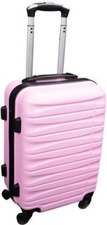 Liten kabinväska - rosa - hård ABS/polycarbonat