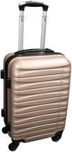 Kabinekuffert i guld - 4 hjuls kabinetrolley - Lavet af stærkt og holdbart polypropylen