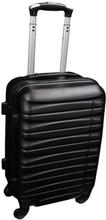 Kabinekuffert i sort - 4 hjuls kabinetrolley - Lavet af stærkt og holdbart polypropylen