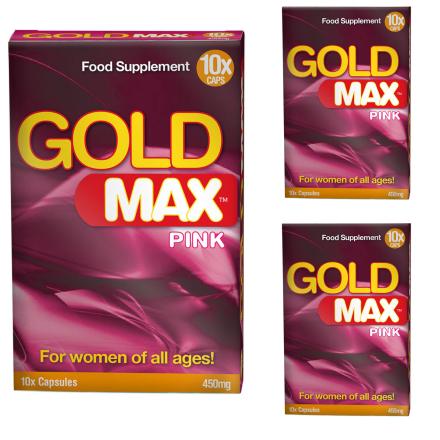 Gold Max Pink för kvinnor-Mer Lust 30kaps