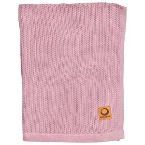 Easygrow Grandma Stickad Filt Rosa Melange Pink