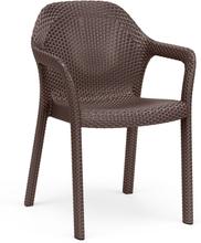 Chaise empilable moka