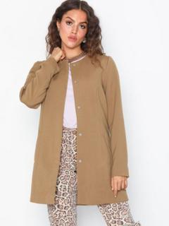 Jacqueline de Yong Jdynew Brighton Coat Otw Noos Frakker Lysebrun