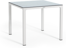 Petite table avec plateau HPL blanc
