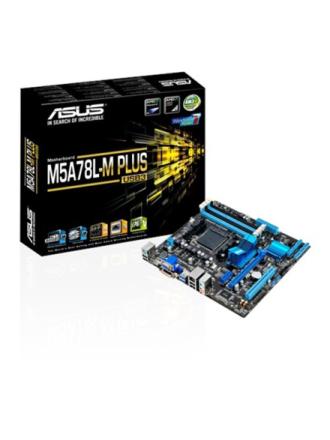 M5A78L-M PLUS/USB3 Bundkort - AMD 760G - AMD AM3+ socket - DDR3 RAM - Micro-ATX