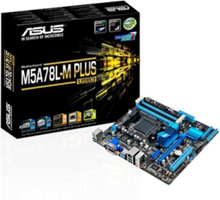 M5A78L-M PLUS/USB3 Moderkort - AMD 760G - AMD AM3+ socket - DDR3 RAM - Micro-ATX
