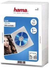 Hama Dvd-box Slim Transparent 10-pack Blå