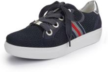 Sneakers i äkta läder från ARA blå