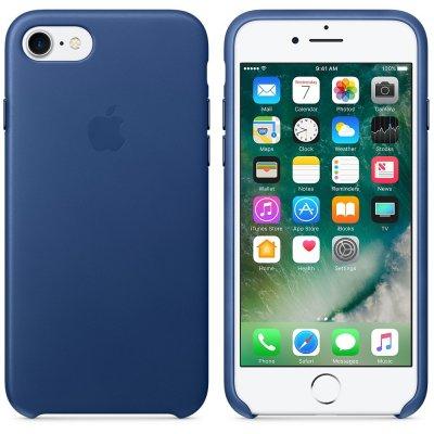 Apple Läderskal för iPhone 8 / 7 - Safirblå
