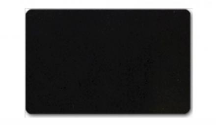 Plastkort mat sort kerne 86x54x0,76mm