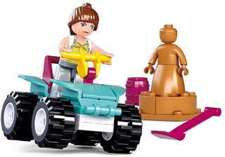 Byggeklodser Girl´s Dream Serie - ATV Køretøj