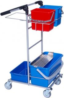 Rengøringsvogn ERGO Mini Dryp m/2 spande