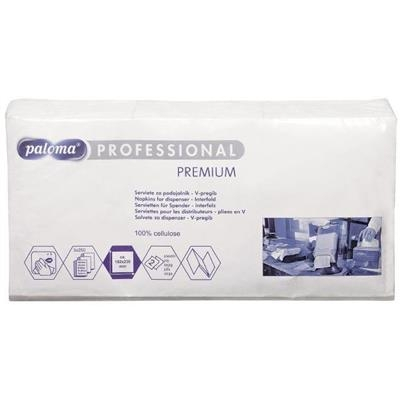 Dispenserserviet, 2-lags, 23x16,2cm, hvid, papir