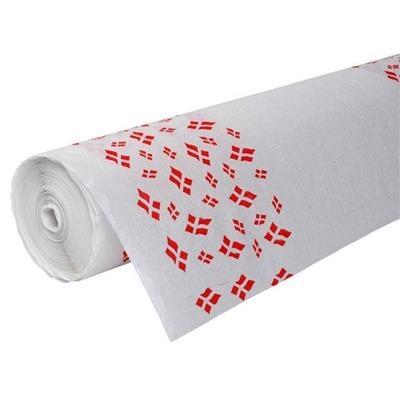 Rulledug, 5000x120cm, hvid, 100% genbrugspapir, med flagmotiv