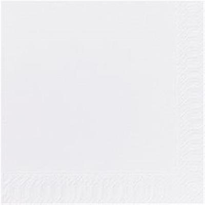 Frokostserviet, Duni, 2-lags, 1/4 fold, 33x33cm, hvid, papir