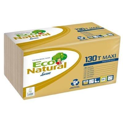 Økonomiserviet, T3 Eco Natural, 1-lags, 1/4 fold, 29,5x29,5cm, sand, 100% genbrugspapir