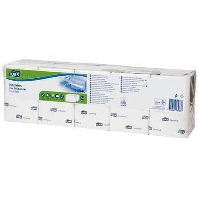 Dispenserserviet, Tork Expressnap N4 Universal, 1-lags, 21,3x33cm, hvid, 100% nyfiber