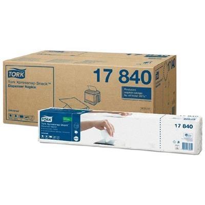Dispenserserviet, Tork Expressnap N10 , 1-lags, interfold, 21,3x21,6cm, hvid, 100% nyfiber