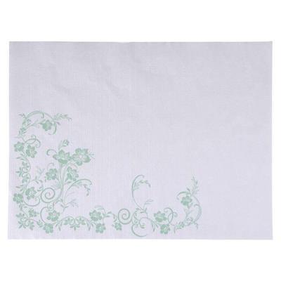Dækkeserviet, Katja, 40x30cm, grøn, papir