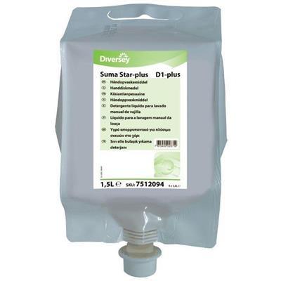 Håndopvask, Diversey Suma Star-plus D1 , 1,5 l, til Divermite/DQFM dispenser