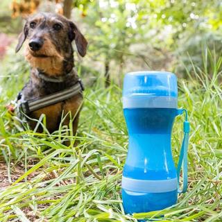 2-i-1-flaske med vann og matbeholdere for kjæledyr Pettap