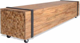 vidaXL TV-bänk teak 150x30x30 cm