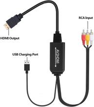 INF AV-HDMI-muunnin, RCA-komposiitti-HDMI-sovitin