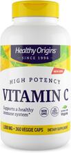Vitamin C 1000 mg (Non-GMO L-Ascorbic Acid) 360 Vcaps - Healthy Origins