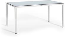 Grande table avec plateau HPL blanc
