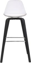 2 st Zaki barstol - Vit & svart
