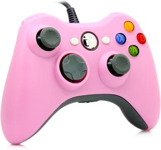 Rosa handkontroll till Xbox 360
